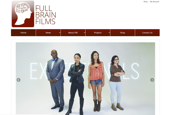 Full Brain Films LLC website, an independent film company in Portland, Oregon
